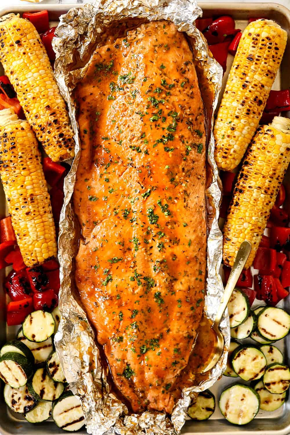Honey Mustard Grilled Salmon in Foil