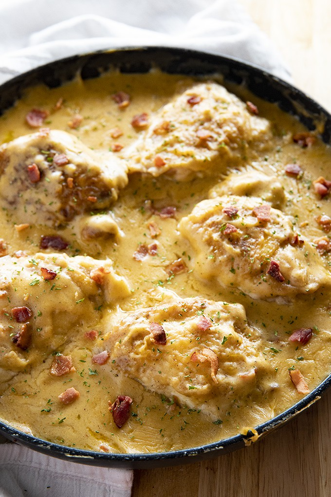 One Pan Smothered Chicken